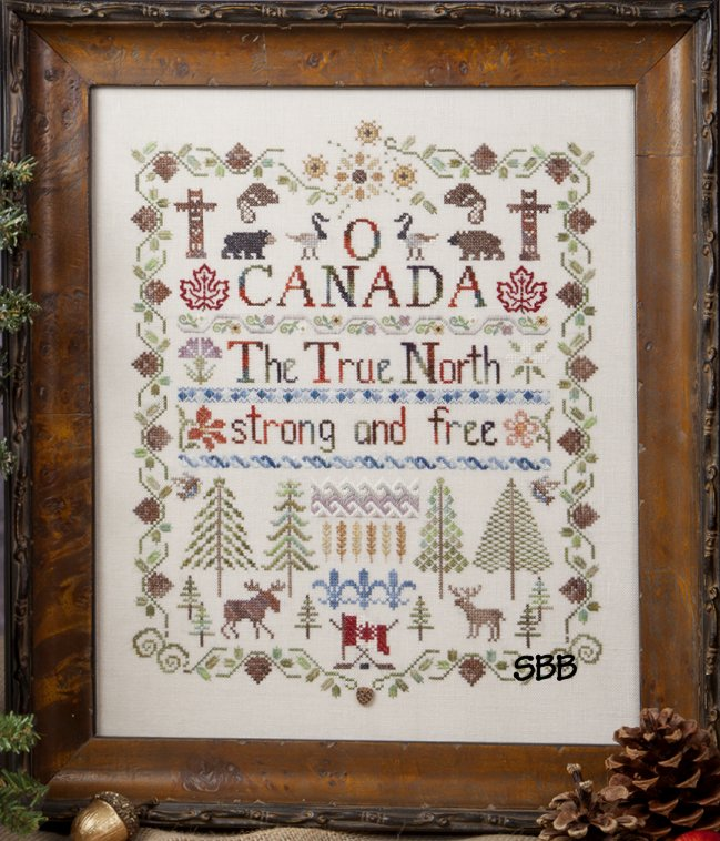 Jeannette Douglas Designs O Canada True North Strong