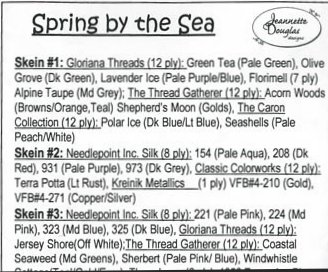 Jeannette Douglas Designs  Spring By The Sea Embellishment Pack