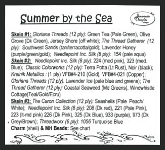 Jeannette Douglas Designs  Summer By The Sea Embellishment Pack