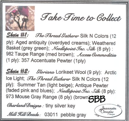 Jeannette Douglas Designs Take Time To Collect Embellishment Pack