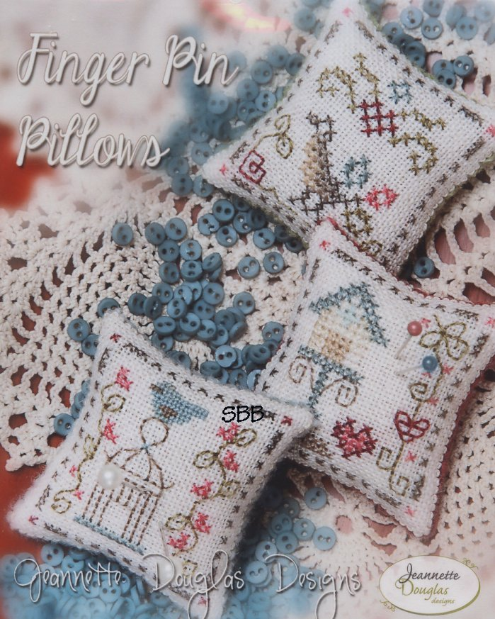 Jeannette Douglas Designs Limited Edition Finger Pyn Pillows