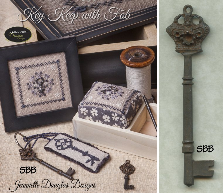 Jeannette Douglas Designs Limited Edition Key Keep Kit With Fob Plus Large Crown Key
