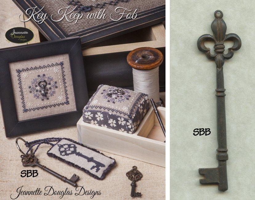 Jeannette Douglas Designs Limited Edition Key Keep Kit With Fob Plus Large Fleur De Lys Key