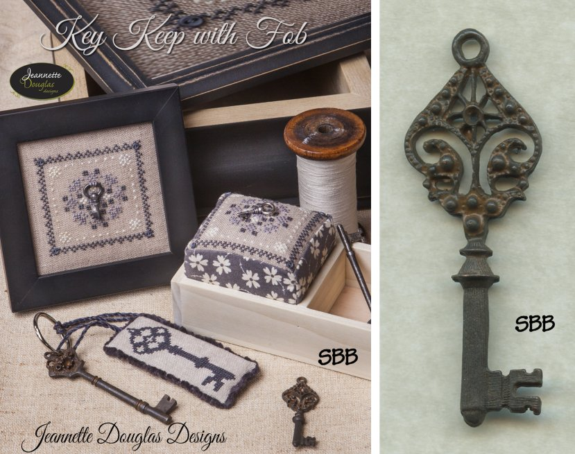 Jeannette Douglas Designs Limited Edition Key Keep Kit With Fob Plus Medium Key