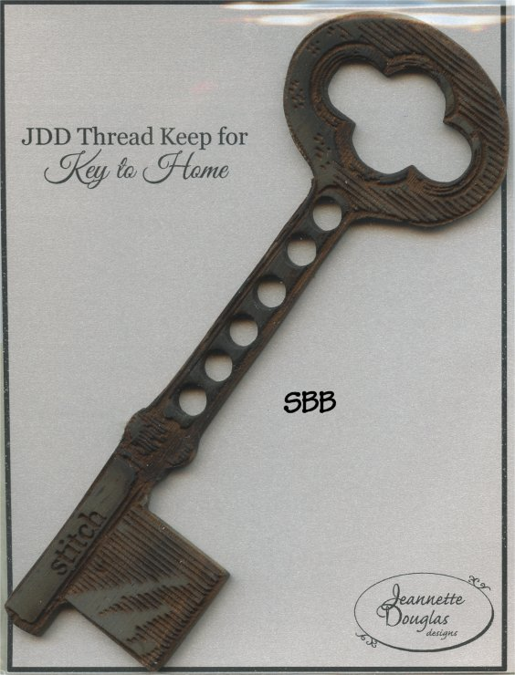 Jeannette Douglas Designs Limited Edition Wooden Key Thread Keep