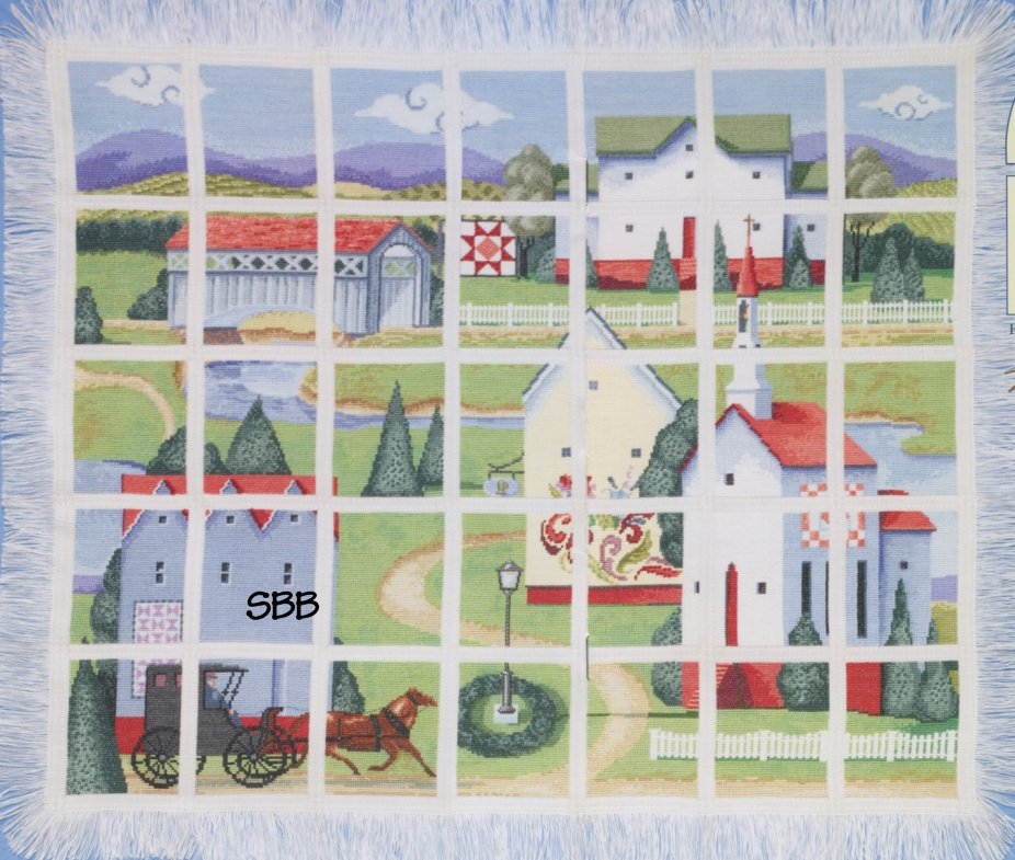 Jim Shore JSP004E Countryside Afghan Leaflet & Embellishment Pack