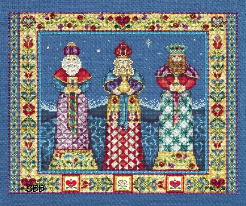 Jim Shore JSP006E Three Kings Leaflet & Embellishment Pack