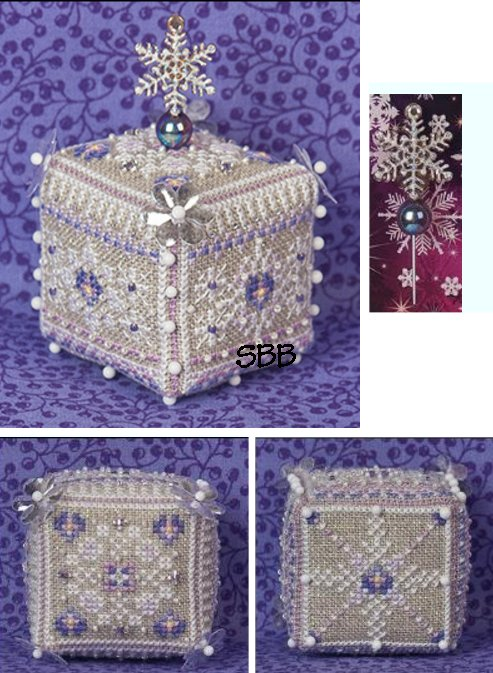 Just Nan Clearance  JN285 Limited Edition Pansy Ice Cube with Embellishments & CGP37 Sparkle Charm Garden Pin