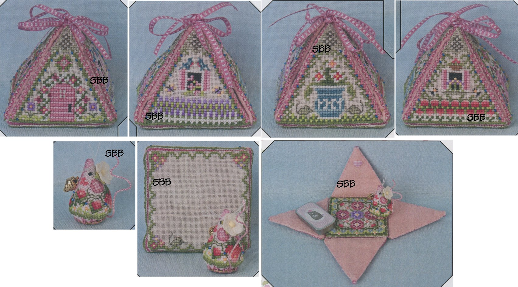 Just Nan Clearance  JN296 Limited Edition Summer Mouse In A House with Embellishments