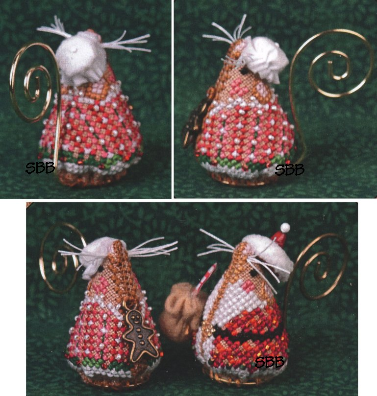 Just Nan Clearance  JNLEGMSM Limited Edition Gingerbread Mrs. Santa Mouse With Embellishments