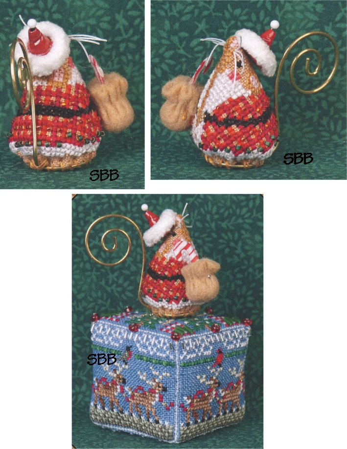 Just Nan Clearance  JNLEGSM Limited Edition Gingerbread Santa Mouse With Embellishments
