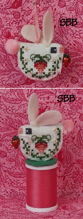 Just Nan Clearance Strawberry Bunny With Embellishments