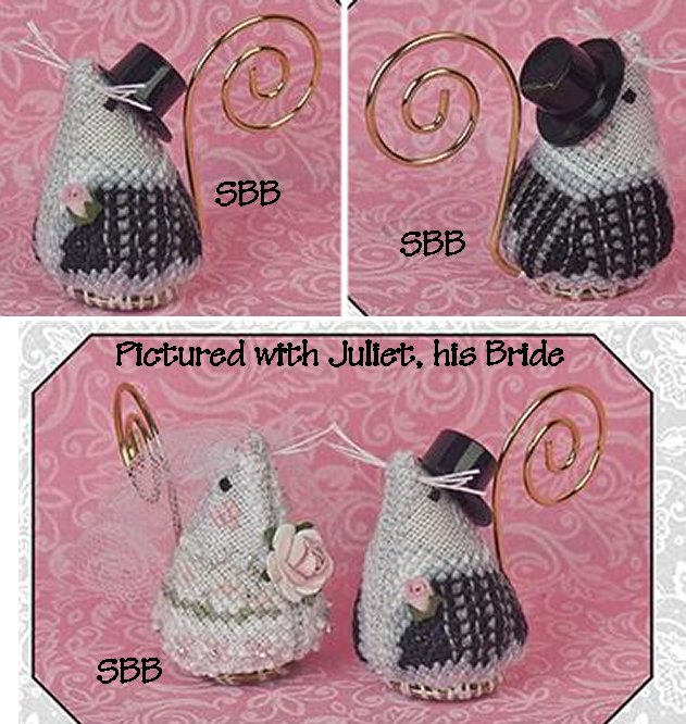 Just Nan Clearance Romeo The Groom Mouse With Embellishments