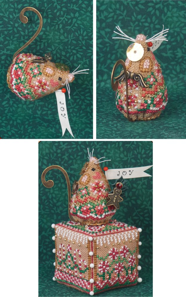 Just Nan Clearance  Limited Edition Gingerbread Angel Mouse With Embellishments