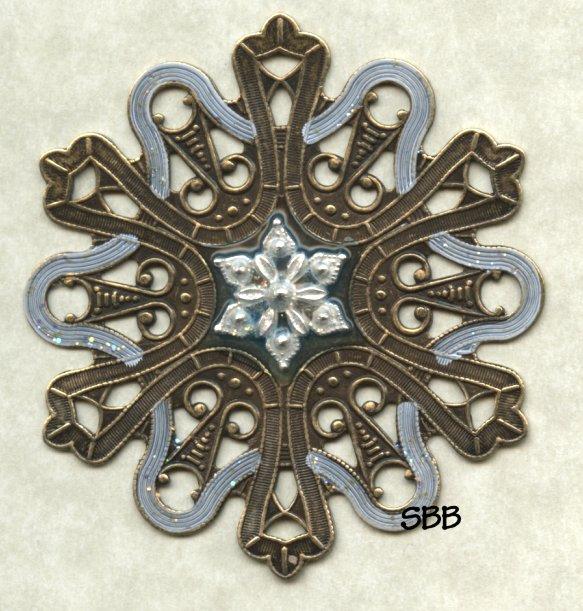 Just Nan Clearance VW07 Snowflake Vintage Winder