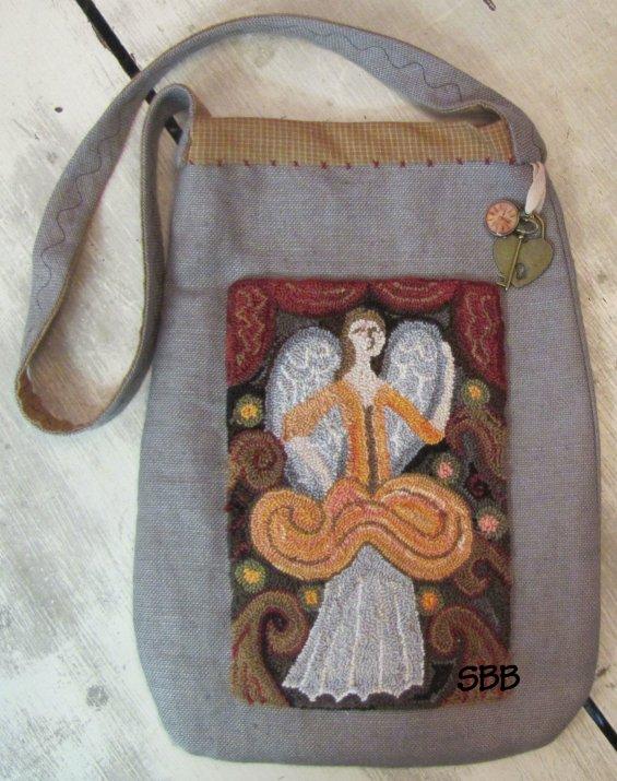 Kathy Barrick The Angel Sophia Punchneedle