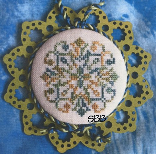 Keslyn's    Laser Lace Ornament ~ Golden Moss (Includes Wooden Ornament)
