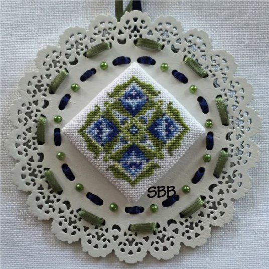 Keslyn's  Laser Lace Ornament ~ Mountain Meadow (Includes Wooden Ornament)
