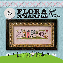 Lizzie*Kate Kits FM003 Flora McSampler ~ Stitch Lessons Sampler