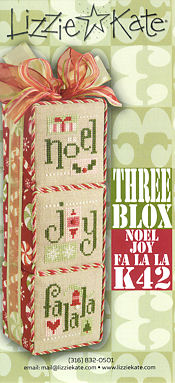 Lizzie Kate  K42 Three Blox Noel Joy FaLaLa