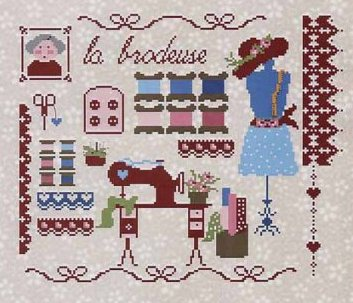 Lilli Violette La Brodeuse (The Embroidery)