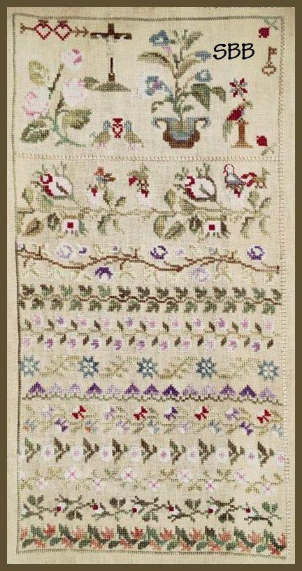 Lindsay Lane Designs Maria Ceron 1830 ~ Floral Band Sampler
