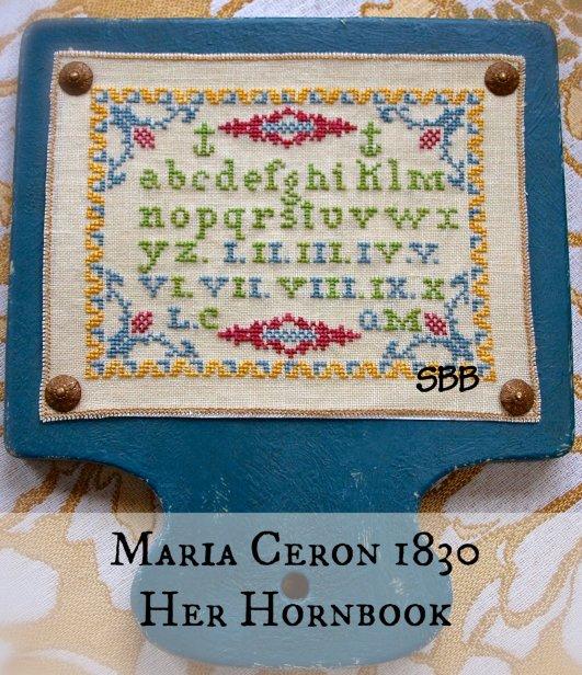 Lindsay Lane Designs Maria Ceron 1830 ~ Her Hornbook