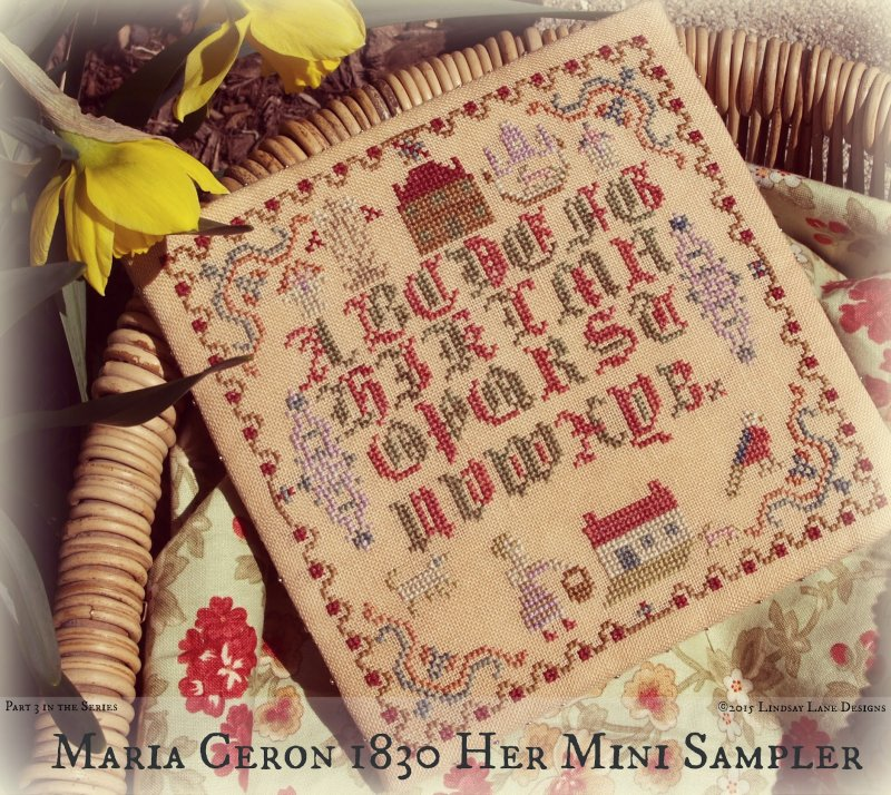 Lindsay Lane Designs Maria Ceron 1830 ~ Her Mini Sampler