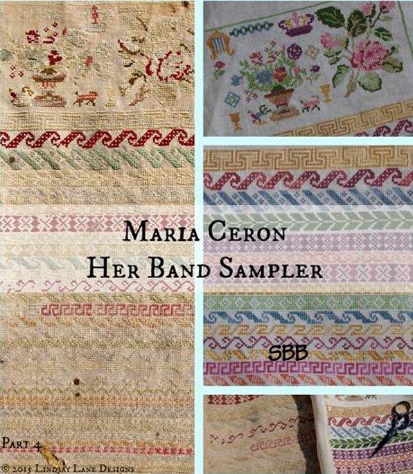 Lindsay Lane Designs Maria Ceron 1830 ~ Her Band Sampler
