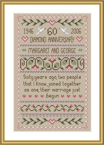Little Dove Designs Diamond Anniversary Sampler