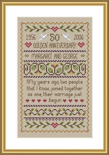 Little Dove Designs Golden Anniversary Sampler