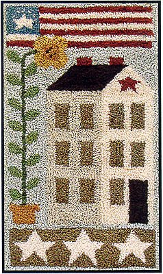 Little House Needleworks American Saltbox Punchneedle