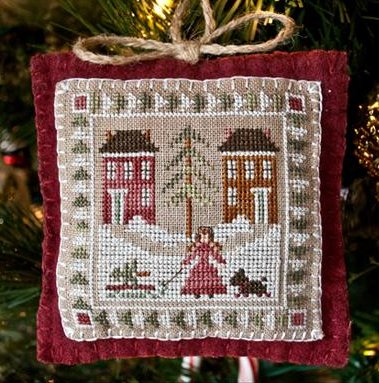 Little House Needleworks2011 Ornament #2 ~ Bringing Home The Tree