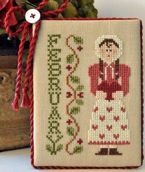 Little House Needleworks Calendar Girls #2 of 12 ~ February