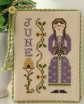 Little House Needleworks Calendar Girls #6 of 12 ~ June