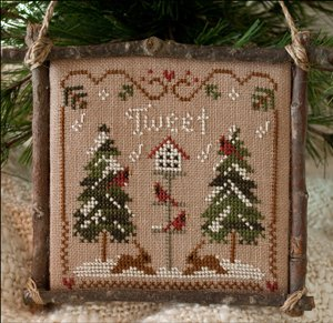 Little House Needleworks2011 Ornament #1 ~ Cardinal Winter