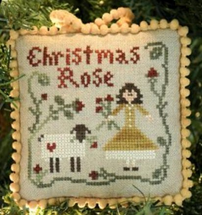 Little House Needleworks The Sampler Tree Ornament Series #4 Christmas Rose