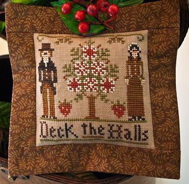 Little House Needleworks2011 Ornament #3 ~ Deck the Halls