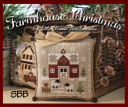 Little House Needleworks Farm House Christmas #1 - Little Red Barn