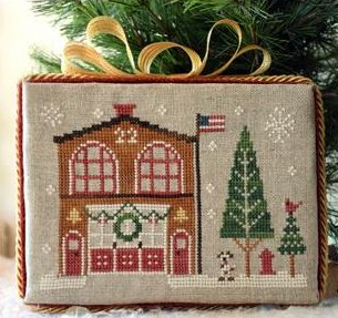 Little House Needleworks Home Town Holidays #7 ~ Firehouse