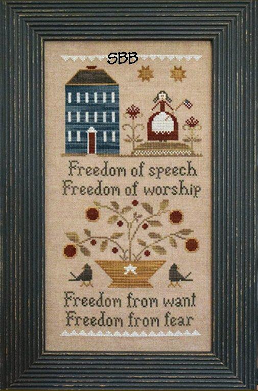 Little House Needleworks Four Freedoms