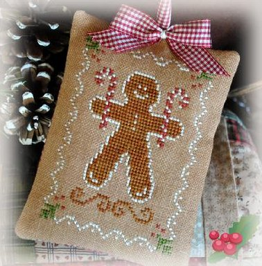 Little House Needleworks2012 Ornament #10 ~ Gingerbread Cookies