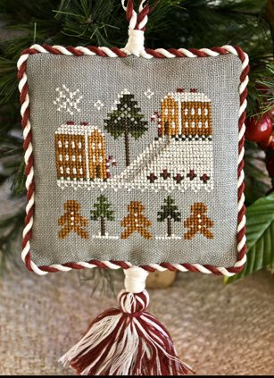 Little House Needleworks2011 Ornament #4 ~ Gingerbread Village