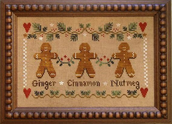 Little House Needleworks Gingerbread Trio