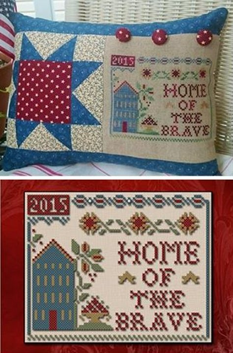 Little House Needleworks & Classic Colorworks Home Of The Brave Threadpack