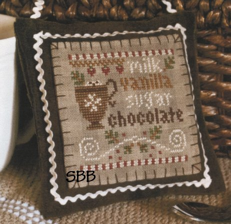 Little House Needleworks2012 Ornament #7 ~ Hot Cocoa