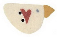 Little House Needleworks Little Sheep Virtues #3 Peace ~ JABCo Button 9689/1192.s Small Sweetheart Bird