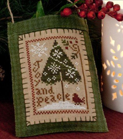 Little House Needleworks2011 Ornament #9 ~ Joy & Peace
