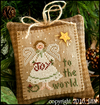 Little House Needleworks2010 Ornament #12 ~ Joy To The World