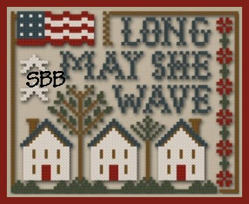Little House Needleworks & Classic Colorworks Threadpack  Long May She Wave